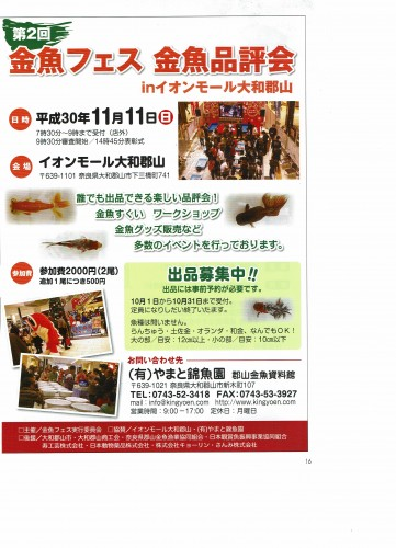第2回 金魚フェス   金魚品評会  2018.11.11